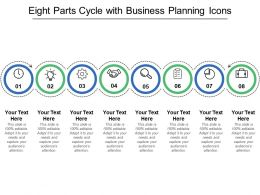 Eight Parts Cycle With Business Planning Icons