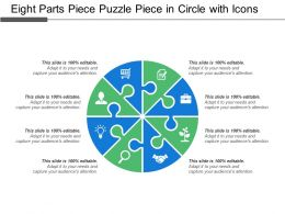Eight Parts Piece Puzzle Piece In Circle With Icons