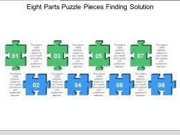 Eight Parts Puzzle Pieces Finding Solution