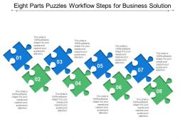 Eight Parts Puzzles Workflow Steps For Business Solution