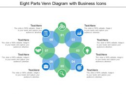 Eight Parts Venn Diagram With Business Icons