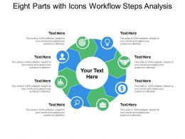 Eight Parts With Icons Workflow Steps Analysis