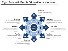 Eight Parts With People Silhouettes And Arrows