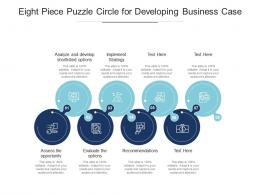 Eight Piece Puzzle Circle For Developing Business Case