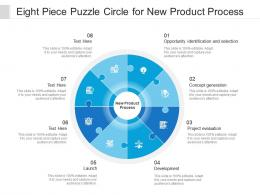 Eight Piece Puzzle Circle For New Product Process