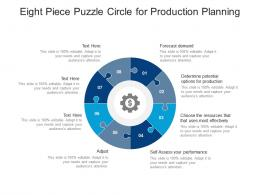 Eight Piece Puzzle Circle For Production Planning