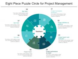 Eight Piece Puzzle Circle For Project Management