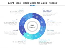 Eight Piece Puzzle Circle For Sales Process