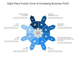 Eight Piece Puzzle Circle Of Increasing Business Profit