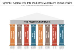 Eight Pillar Approach For Total Productive Maintenance Implementation