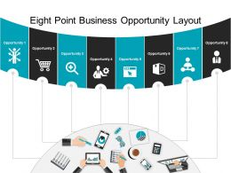 Eight Point Business Opportunity Layout Powerpoint Shapes