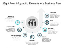 Eight Point Infographic Elements Of A Business Plan