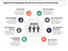 Eight Point Infographic Growth Core Values And Productivity