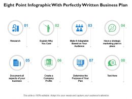 Eight Point Infographic With Perfectly Written Business Plan
