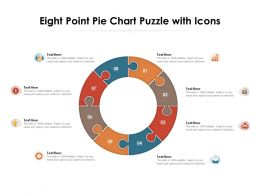 Eight Point Pie Chart Puzzle With Icons