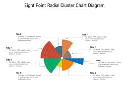 Eight Point Radial Cluster Chart Diagram