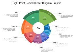 Eight Point Radial Cluster Diagram Graphic