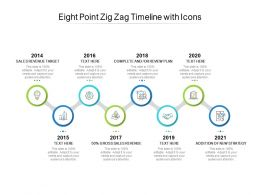Eight Point Zig Zag Timeline With Icons