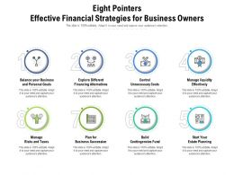 Eight Pointers Effective Financial Strategies For Business Owners