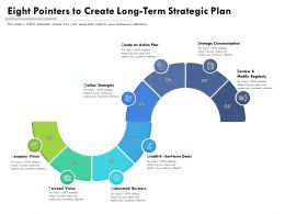 Eight Pointers To Create Long Term Strategic Plan