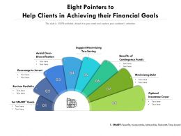 Eight Pointers To Help Clients In Achieving Their Financial Goals