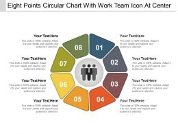 Eight Points Circular Chart With Work Team Icon At Center
