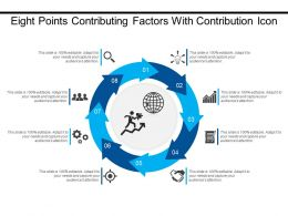 Eight Points Contributing Factors With Contribution Icon