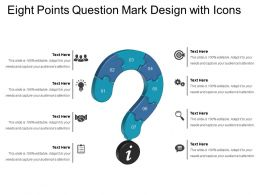 Eight Points Question Mark Design With Icons