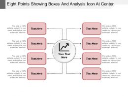Eight Points Showing Boxes And Analysis Icon At Center