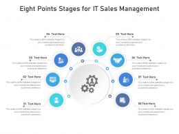 Eight Points Stages For IT Sales Management Infographic Template