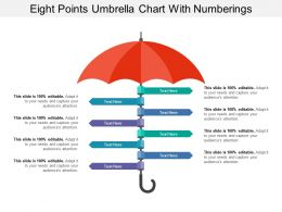 Eight Points Umbrella Chart With Numberings