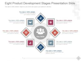 Eight Product Development Stages Presentation Slide