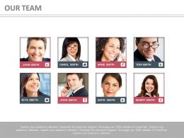 Eight Profiles For Business Teams Powerpoint Slides