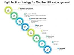 Eight Sections Strategy For Effective Utility Management
