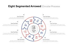 Eight Segmented Arrowed Circular Process