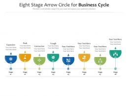 Eight Stage Arrow Circle For Business Cycle