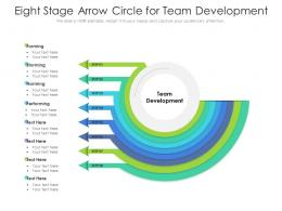 Eight Stage Arrow Circle For Team Development