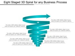 Eight Staged 3d Spiral For Any Business Process
