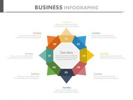 Eight Staged Business Infographics Flat Powerpoint Design