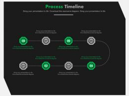 Eight Staged Business Process Flow Timeline Powerpoint Slides