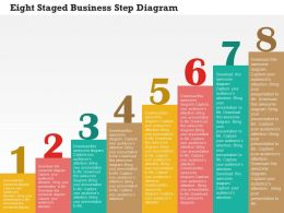 Eight Staged Business Step Diagram Flat Powerpoint Design