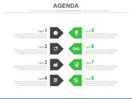 Eight Staged Business Tags And Icons Powerpoint Slides