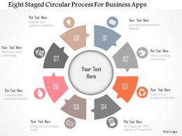 Eight Staged Circular Process For Business Apps