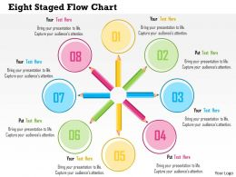 Eight Staged Flow Chart Flat Powerpoint Design