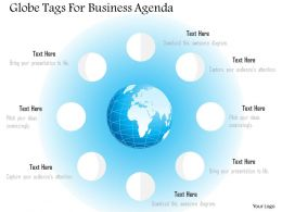 Eight Staged Globe Tags For Business Agenda Ppt Presentation Slides