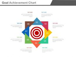 Eight Staged Goal Achievement Chart Powerpoint Slides