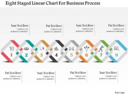 Eight Staged Linear Chart For Business Process Flat Powerpoint Design