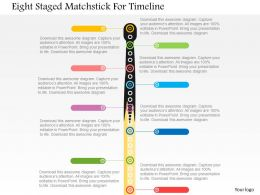 Eight Staged Matchstick For Timeline Flat Powerpoint Design