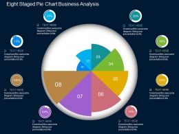 Eight Staged Pie Chart Business Analysis Flat Powerpoint Design
