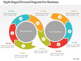Eight Staged Process Diagram For Business Flat Powerpoint Design